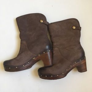 UGG Lynnea Fur Lined Fold Over Clog Boots